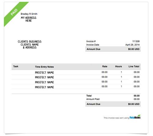 freshbooks, draw, invoice