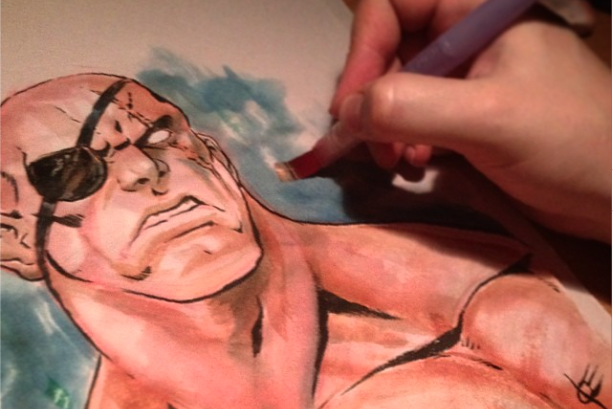 Joverine Sagat watercolor